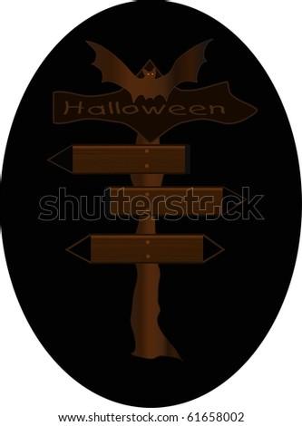 Halloween Signpost raster - stock photo