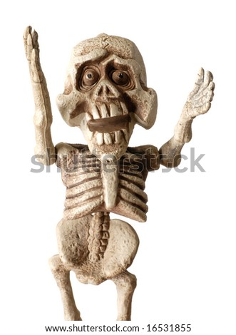 Halloween skeleton - stock photo