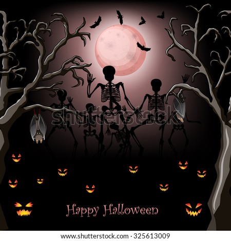 halloween skeleton poster design - Halloween Skeleton