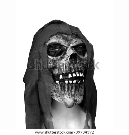 Halloween skull representing the mask of the death