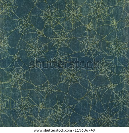 Halloween Spider Web Background - stock photo
