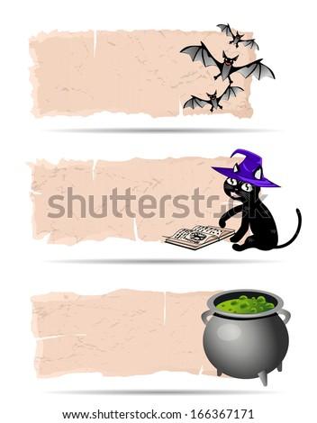 Halloween sticker - stock photo