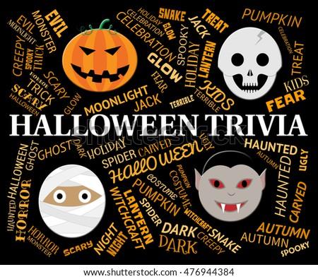 Halloween Trivia Indicating Trick Treat Knowhow Stock Illustration ...
