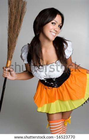 Halloween Witch Costume - stock photo