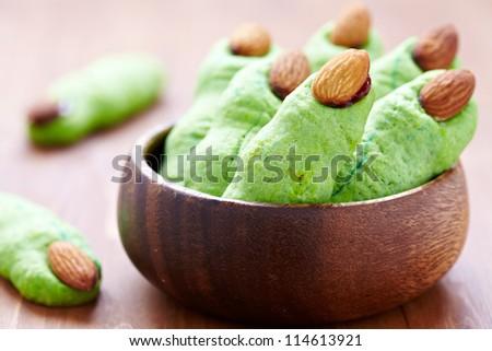 Halloween witch's fingers cookies - stock photo