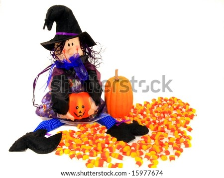 Halloween witch trick or treat