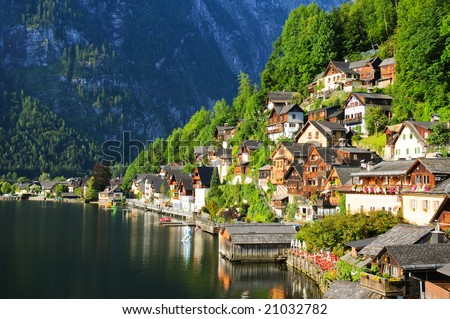 Hallstadt, Austria - stock photo