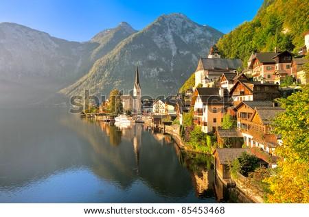 Hallstatt Lake, Austria - stock photo