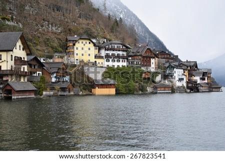 Hallstatt village in Alps, Austria - Europe.  - stock photo