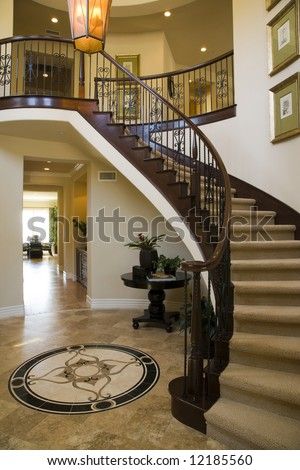 Hallway and Staircase - stock photo