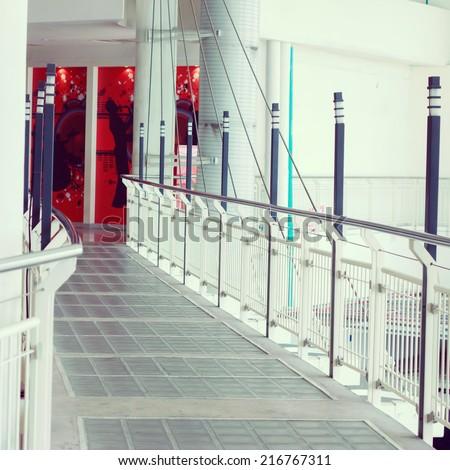 Hallway in Building - instagram effect  - stock photo