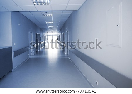 hallway in the hospital - stock photo