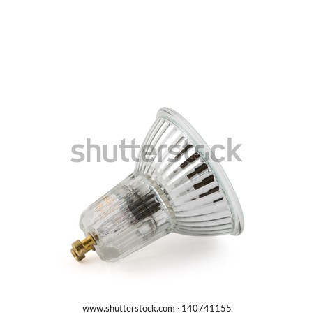 Halogen lamp isolated over white background - stock photo