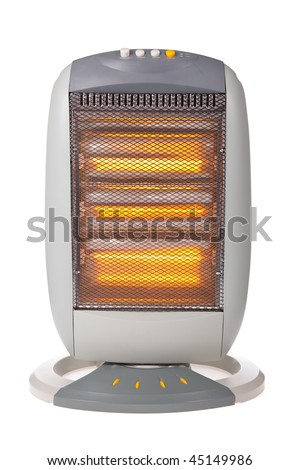 Halogen or Infrared heater isolated on a white background - stock photo