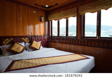 Halong touring boat interior