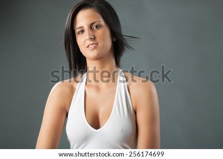 Halter style bodysuit - stock photo
