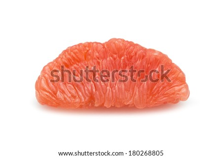 halves grapefruit isolated on a white background