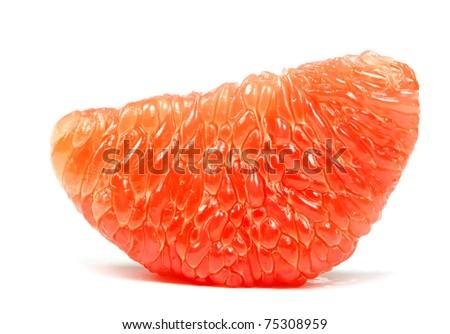 halves grapefruit isolated on a white background - stock photo