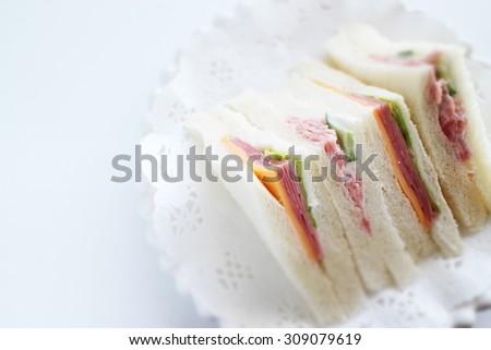 ham and cheese sandwich - stock photo