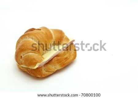 Ham Cheese croissant - stock photo