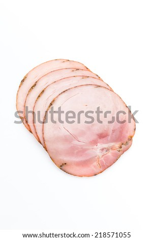 Ham isolated on white
