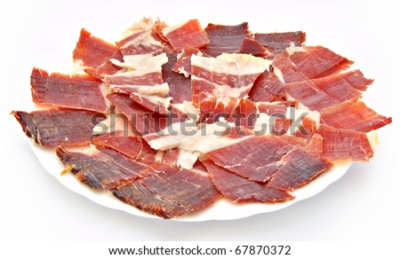 Ham isolated on white background