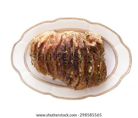 Ham, Pork Isolated on White Background - stock photo