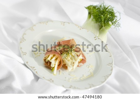 ham with fennel - stock photo