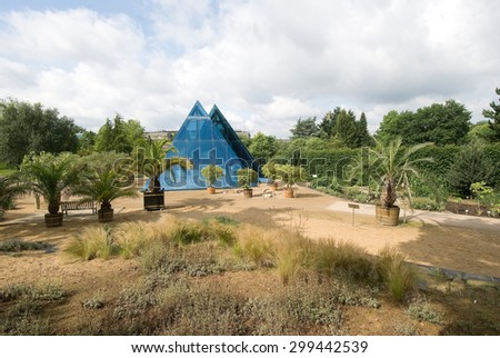 HAMBURG, GERMANY - CIRCA AUGUST 2012 - View of the pyramid at the Botanical Gardens in district small Flottbek