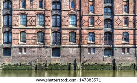 Hamburg, Germany, Hafencity, Speicherstadt, Landungsbr�¼cken - stock photo