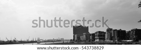HAMBURG, GERMANY - JUNE 15, 2016: View of the city on June 15, 2016.