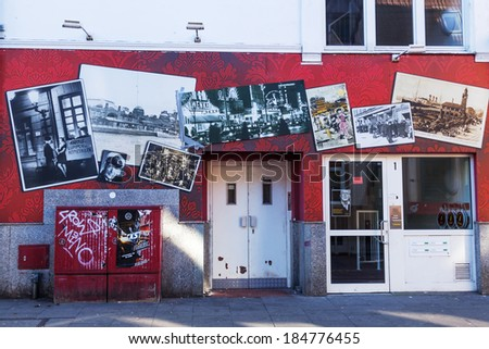 HAMBURG, GERMANY - MARCH 08: St Pauli Museum on March 08, 2014 in Hamburg. Founded 1988 by author and journalist Guenter Zint it shows in several mio photos, documents and objects the district history