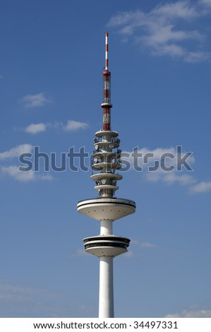 Hamburg Germany Television Tower Radio Mast - stock photo