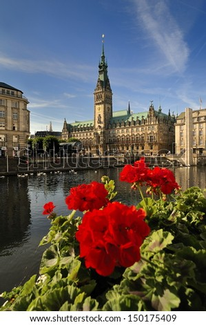 Hamburg, Germany, Town Hall - stock photo