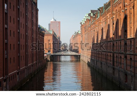 Hamburg Hafen - stock photo