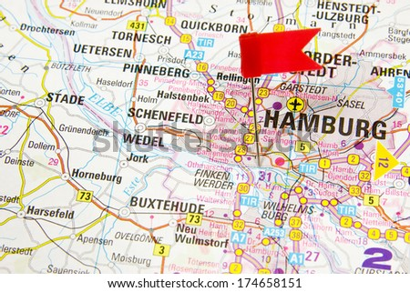 Map Of Hamburg Stock Images RoyaltyFree Images Vectors - Quickborn germany map