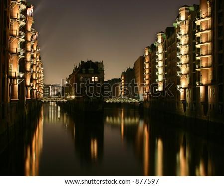 Hamburg Speicherstadt - stock photo