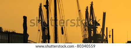 Hamburg Sunset - stock photo