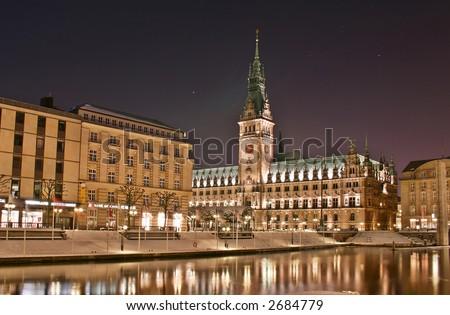 Hamburg town-hall - stock photo