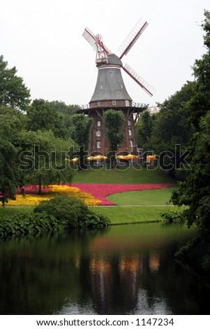 Hamburg Windmill - stock photo