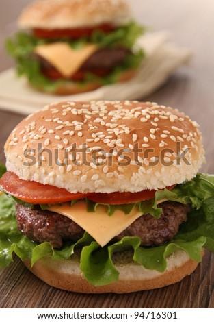 hamburger - stock photo