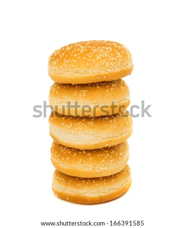 hamburger buns isolated on white background
