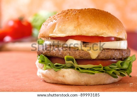 Hamburger Cheeseburger - stock photo
