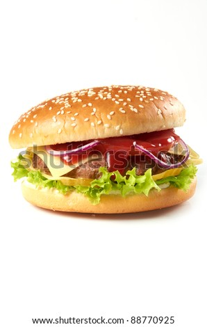 hamburger cheeseburger fast food american
