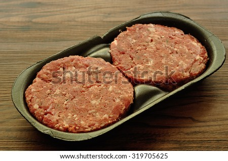 Hamburger patties  - stock photo