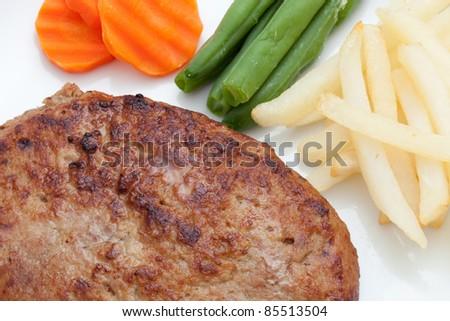 Hamburger steak - stock photo