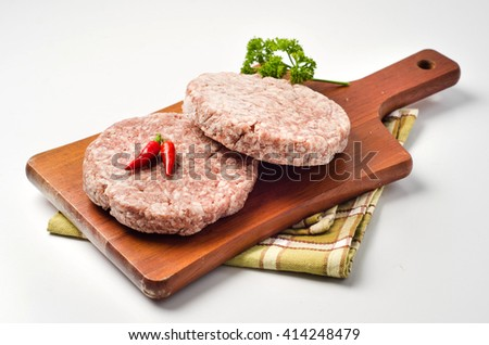 hamburger with asparagus, pepper and tomatoes - stock photo