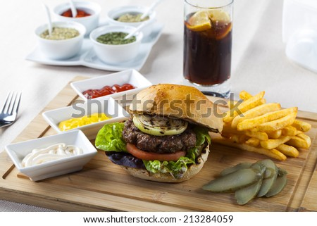 Hamburger Fries Shake Omaha Nebraska 245494300 on Chopped Lettuce Green Clip Art