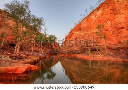Hamersley Gorge - stock photo