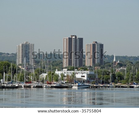 Hamilton, Ontario,  downtown area seen from Lake Ontario